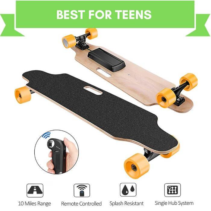 Aceshin Electric Skateboard Longboard Good for Teens
