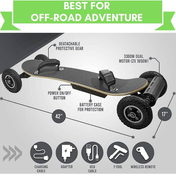 Outstorm 31 mph Off road Battery Powered Skateboard