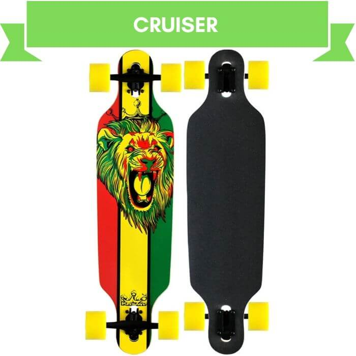 Krown Rasta Lion Freestyle Elite Longboard